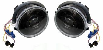 Фары передние W463 линзовые черные