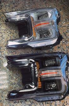 Фары ford f-150 динамические, черные