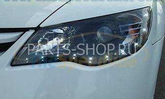 Фары линзовые Black Honda 4D (комплект)