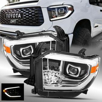 Фары линзовые стиль TRD PRO Tundra 2014-20