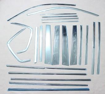 Молдинги на стойки дверей и стекла LC120 (комплект 24 элемента из нерж.)
