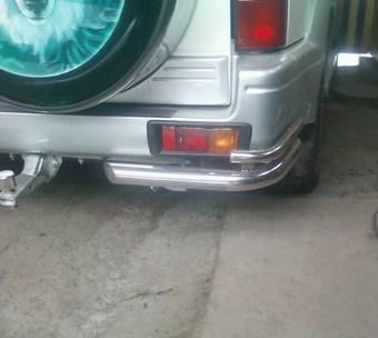 Защита заднего бампера LC Prado 90/95