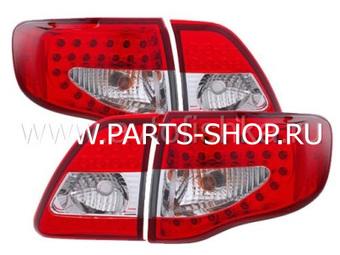 Фонари светодиодные красно-хромированные Corolla 2006-