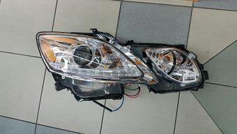 Фары gs300/350 линзовые с ходовыми огнями