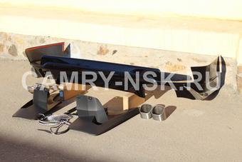 Губа задняя modellista prado 150 черная (под два выхлопа)