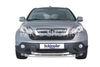 Защита переднего бампера двойная Honda CR-V