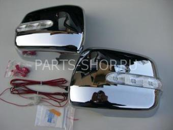 Накладки на зеркала с повторителя поворотов Harrier (хром)