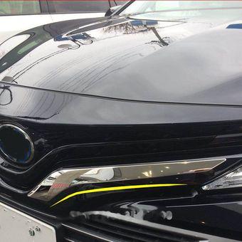 Накладки на решетку радиатора camry 2018 нерж. сталь