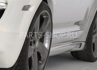 Накладки на пороги Porsche Cayenne