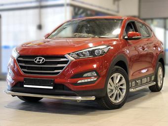 Защита переднего бампера Hyundai Tucson 2018