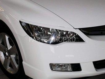 Реснички на фары Civic 4d (под покраску)