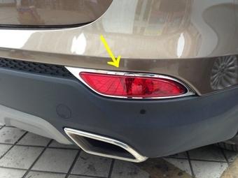 Хром накладки на задние противотуманные фары Hyundai Santa FE
