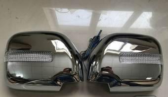 Хром накладки на зеркала с повторителем поворотников LC90