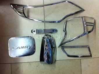 Хром-пакет хромированных накладок на Camry50
