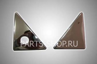 Хромированные накладки на крышку багажника LC150 (комплект)