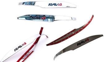 Хромированные накладки на зеркала с логотипом rav4