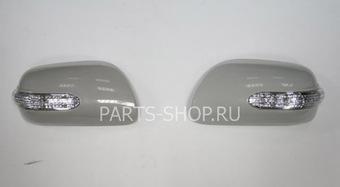 Накладки на зеркала с повторителями поворотов Camry ACV40 (белые, черные или под покраску)