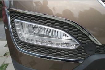 Хромированные накладки вокруг противотуманныч фар Hyundai Santa FE