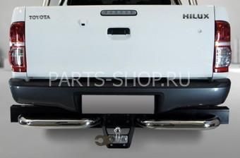 Защита заднего бампера одинарная, угловая Hilux 2012-
