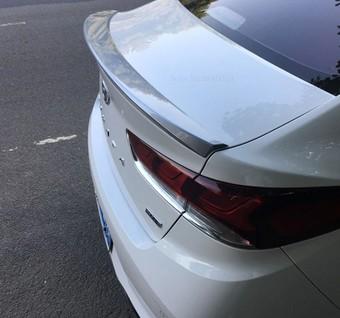 Спойлер на крышку багажника Hyundai Sonata 2018 (черный, белый, серебро)