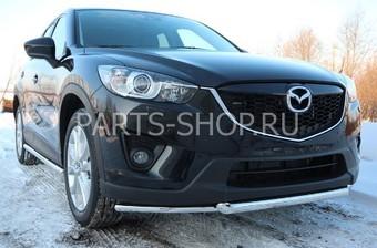 Защита переднего бампера двойная на Mazda CX-5