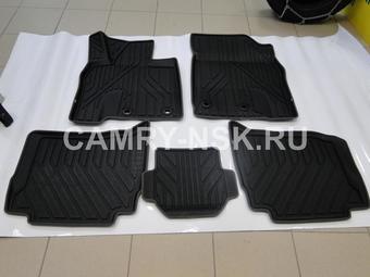 Коврики салона LX570/LC200 2012- резино-пластик 3D черные