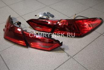 Фонари задние Camry V70 2018 дизайн Lexus, красные