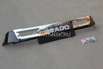 Накладка на передний бампер с подсветкой под решетку радиатора (черн., бел.)