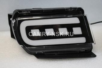 Задние противотуманные фонари LC150 черные (комплект)