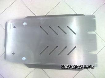 Защита картера АКПП и раздаточной коробки LX570 алюминиевая.