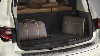 Коврик багажника текстильный (велюровый) черный