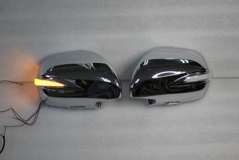 Корпус зеркала вместо штатного Prado 120, GX470, Surf 215 хром