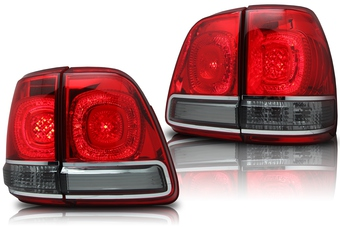 Оптика задняя светодиодная тонированная на Land Cruiser 100 в стиле LC200
