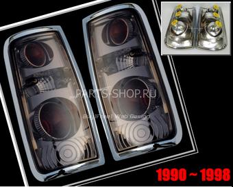 Оптика задняя тонированная на LC80 (комплект)