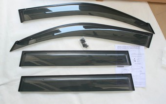 Ветровики широкие lx470 под оригинал