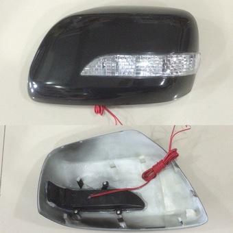 Корпуса на зеркала LC200 чёрные, белые либо под покраску с диодными повторителями поворотов