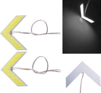 Диодные стрелки в зеркальный элемент