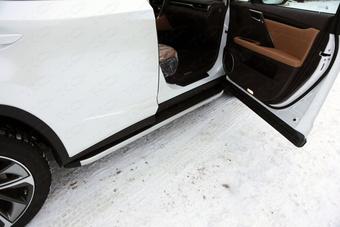 Пороги с пластиковой накладкой rx2015-