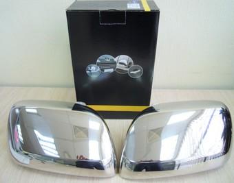 Накладки на зеркала хромированные LC200 (нержавейка)