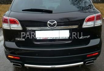 Защита заднего бампера на Mazda CX-9