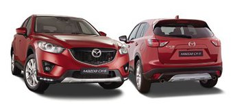 Накладки бамперов Mazda CX-5 (комплект)