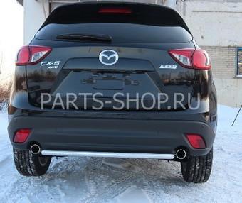 Защита задняя 60 мм на Mazda CX-5