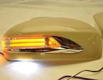 Корпуса зеркал Infiniti FX35, QX70 / Nissan Murano Z51 / Infiniti EX35 с повторителем, под покраску
