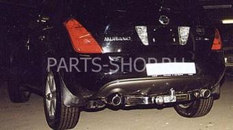 Фаркоп, оцинкованный со вставкой пластины из нерж. Nissan Murano 2008-