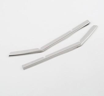 Накладки на решетку переднего бампера prado 18+