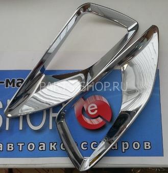 Накладки на противотуманные фары хромированные Corolla (комплект)