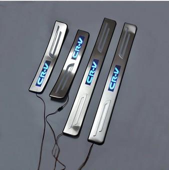 Накладки на пороги Honda CR-V 07-12 с подсветкой