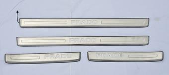 Накладки на пороги prado 150 с подсветкой, узкие