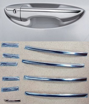 Накладки на ручки хром corolla
