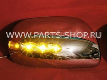 Накладки на зеркала хромированные со светодиодными поворотниками Camry40